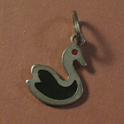 Duck Charm Sterling Silver