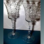 Crystal Stem Cut Toasting Glasses
