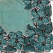 Carol Stanley Designer Handkerchief Pure Linen Hand Rolled