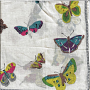 Butterfly Handkerchief Hankie Colorful