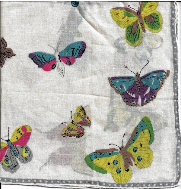 Butterfly Handkerchief Hankie Colorful