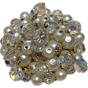Kramer Simulated Pearl and Crystal Pin
