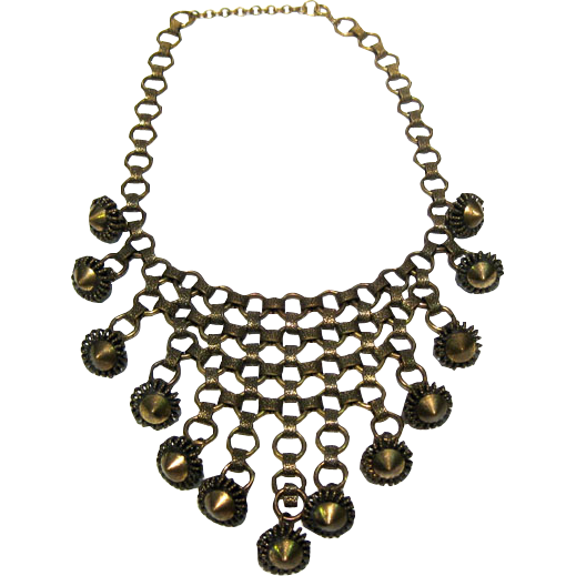 Runway Byzantine Style Bib Necklace Vintage Fashion