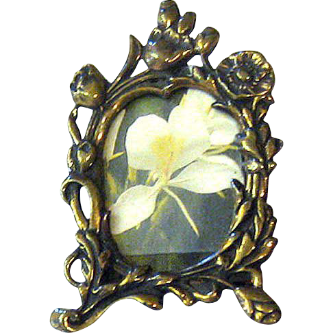 Brass Picture Frame Brooch