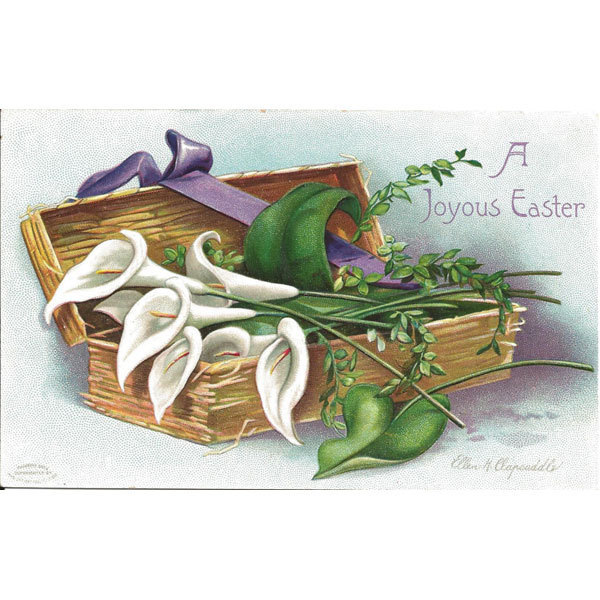Clapsaddle Easter Postcard Lilies in Box