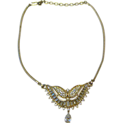 Kramer Winged Rhinestone Necklace