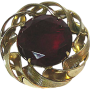 Marvella Pin with Huge Red Stone