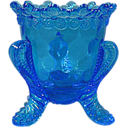 Degenhart Forget-Me-Not Blue Fire Toothpick Holder