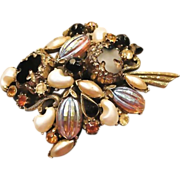 Florenza Art Glass Pin Book Piece