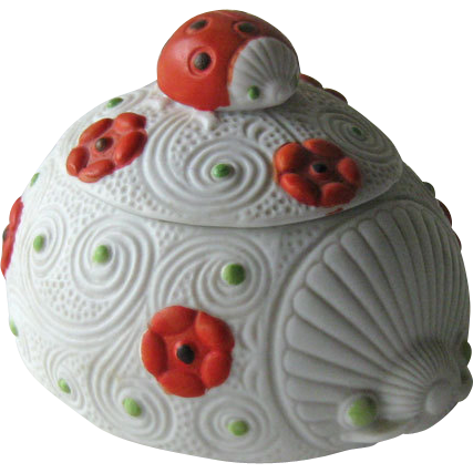 Lefton Ladybug Box Hand Painted