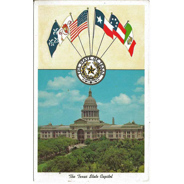 Six Flags Over Texas State Capitol Building Postcard