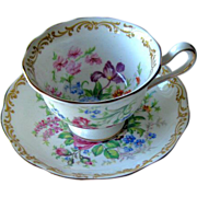 Royal Albert Nosegay Cup Saucer England Bone China