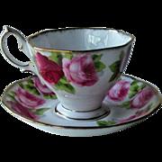 Royal Albert Old English Rose Cup Saucer England Bone China