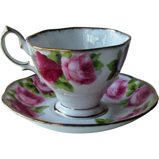 Royal Albert Old English Rose Cup Saucer England Bone China