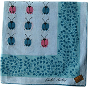Faith Austin Hankie Handkerchief Ladybugs
