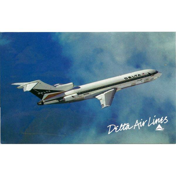 Delta Airlines Postcard Boeing 727