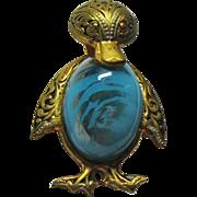 Damascene Duck Figural Pin Jelly Belly Spain