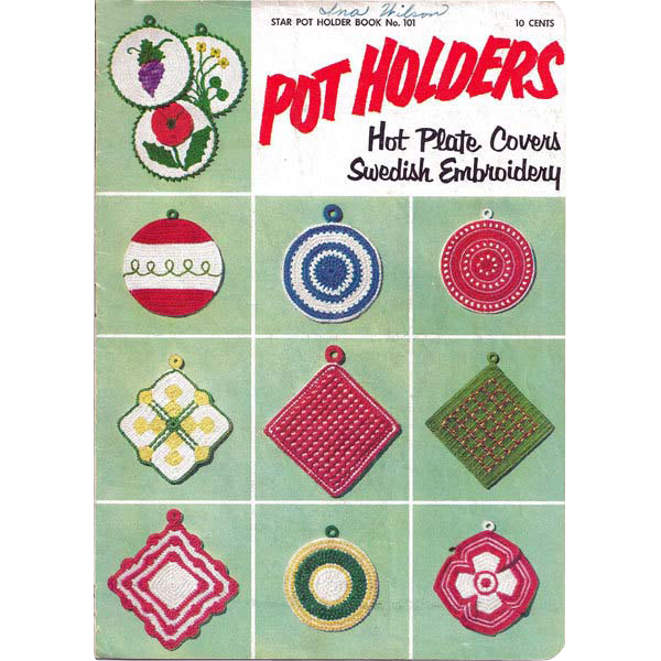 Pot Holders Crochet Booklet Star No 101