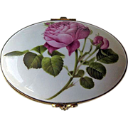 Porcelain Box Limoges France American Horticultural Society Rose Limited Edition