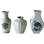 Lenox Miniature Vases Group of Three Gold Trim Made in USA