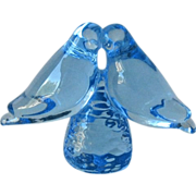 Pair of Glass Lovebirds Baby Blue Color from Montana Shop