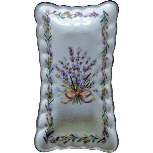 Flambro Bone China Pin Dish Sweet Lavender Pattern