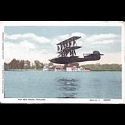 New Model Triplane Postcard Underwood & Underwood Photograph