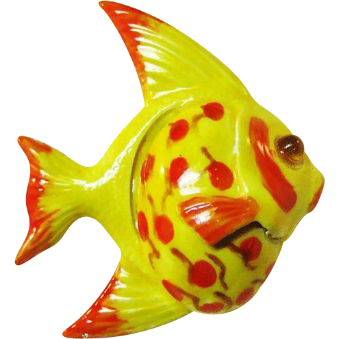 Original by Robert Enameled Fish Pin / Original by Robert Brooch / Figural Pin / Fish Pin / Vintage Pin