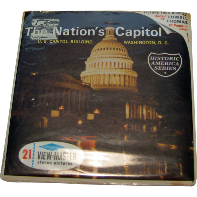 Our Nations Capitol Viewmaster Three Reel Pack / Historic America Series / Collectible Viewmaster / Vintage Viewmaster