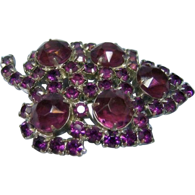 Outstanding Purple Rhinestone Pin