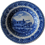 Baltimore & Ohio Railroad Butter Pat / Lamberton China Butter Pat / Railroad China / Collectible Railroad / Vintage Railroad / Vintage China