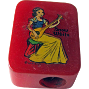 Snow White Bakelite Pencil Sharpener / Disney Pencil Sharpener / Vintage Sharpener / Collectible Sharpener
