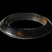 Bakelite Bracelet Black Pumpkin Marbled