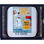 Glass Advertising Slide / Heath & Milligan Paint Advertising Slide