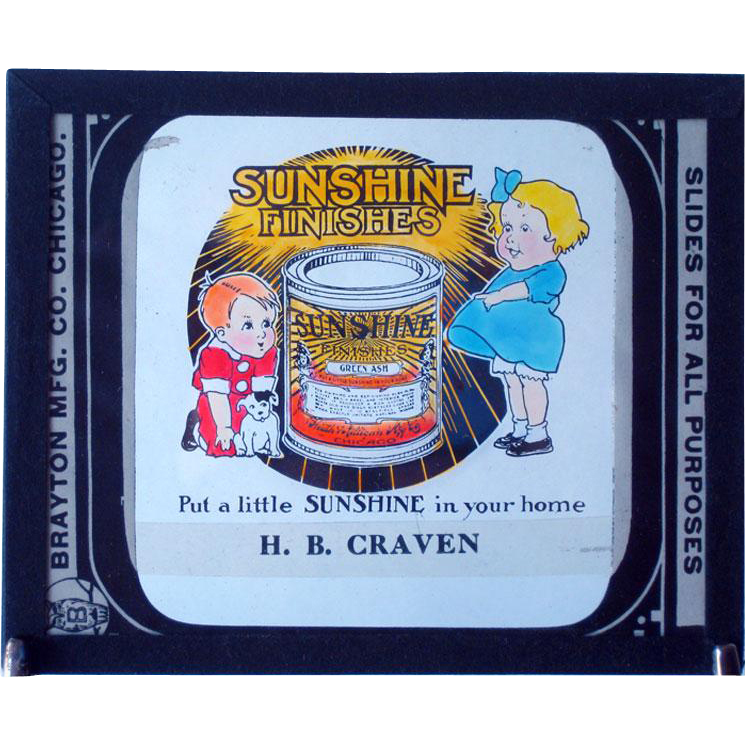 Glass Advertising Slide / Sunshine Finishes Glass Slide