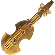 Violin or Bass Musical Instrument Pin / Figural Pin