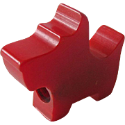 Bakelite Scottie Dog Pencil Sharpener / Collectible Bakelite / Vintage Bakelite / Vintage Pencil Sharpener/ Bakelite Scottie / Red Bakelite / Collectible Pencil Sharpener