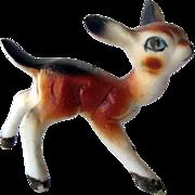 Miniature Deer Figurine / Bone China Figurine / Baby Deer Miniature