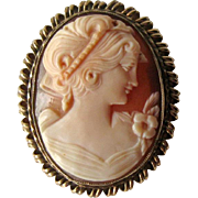 Stunning Shell Cameo Unusual Gold Filled Bezel / Vintage Cameo / Collectible Jewelry / Vintage Jewelry / Gold Filled Cameo / Fashion Jewelry