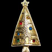 Mid Century Christmas Tree Pin / Modernist Christmas Tree Pin / Holiday Jewelry / Christmas Brooch