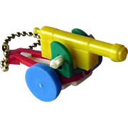 Cannon Puzzle Key Ring / Puzzle Key chain/ Vintage Key ring / Vintage Puzzle / Collectible Puzzle
