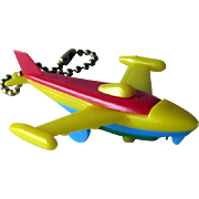 Puzzle Key Ring / Jet Airplane Puzzle Key chain / Vintage Puzzle / Collectible Puzzle
