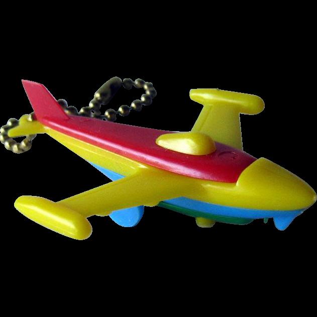 Puzzle Key Ring / Jet Airplane Puzzle Key chain / Vintage Puzzle / Collectible Puzzle