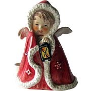 Goebel Angel Figurine / Angel with Lantern / Red Goebel Angel