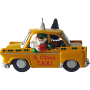 S Claus Taxi Hallmark Ornament / Collectible Ornament