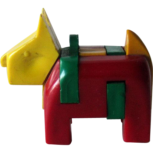 Scottie Dog Key-ring Puzzle / Vintage Puzzle / Plastic Scottie / Vintage Scottie / Collectible Keyring Puzzle