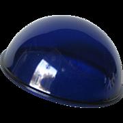 Cobalt Lens by Corning / Vintage Lens / Blue Lens