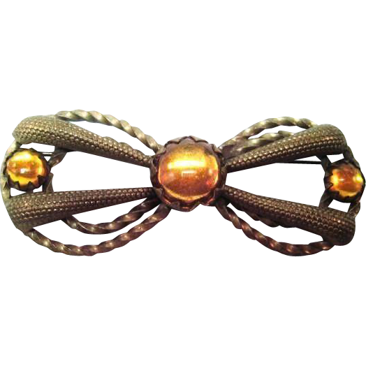 Bow Pin / Vintage Bow Pin / Vintage Jewelry