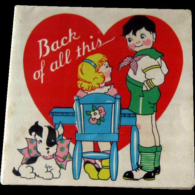 Valentine Card Hidden Message / Vintage Valentine / Collectible Valentine / Scottie Dog