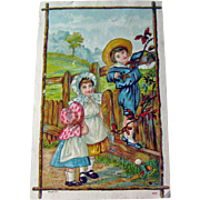 Sunbonnet Girls Advertising Card / Children Trade Card / Drug Store Advertising Card / Collectible Trade Card / Vintage Advertising Card